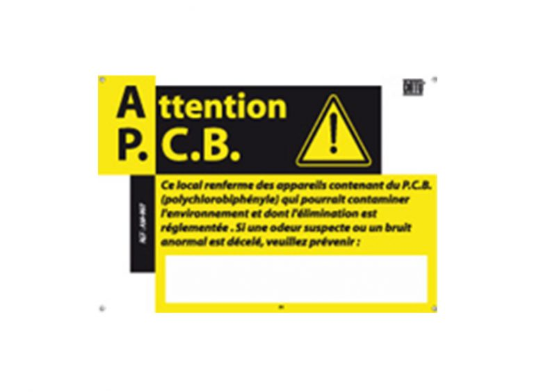 "pancarte "" attention PCB """